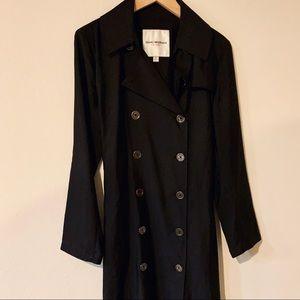 Isaac Mizrahi Designer Black Trench Coat XL